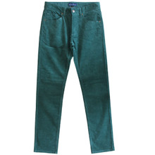 Corduroy Pants Mens Cords Jeans Slim Fit Green Size 30 31 32 33 34 35 36
