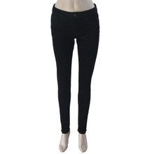 Corduroy Pants for Women Mid Rise Skinny Black