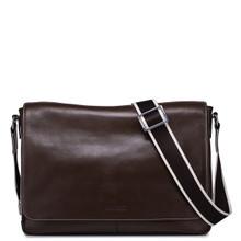 Leather Messenger Bag for Men Brown