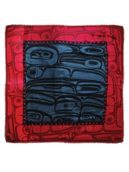 Raven Transforming Soft Poly Tribal Shawl