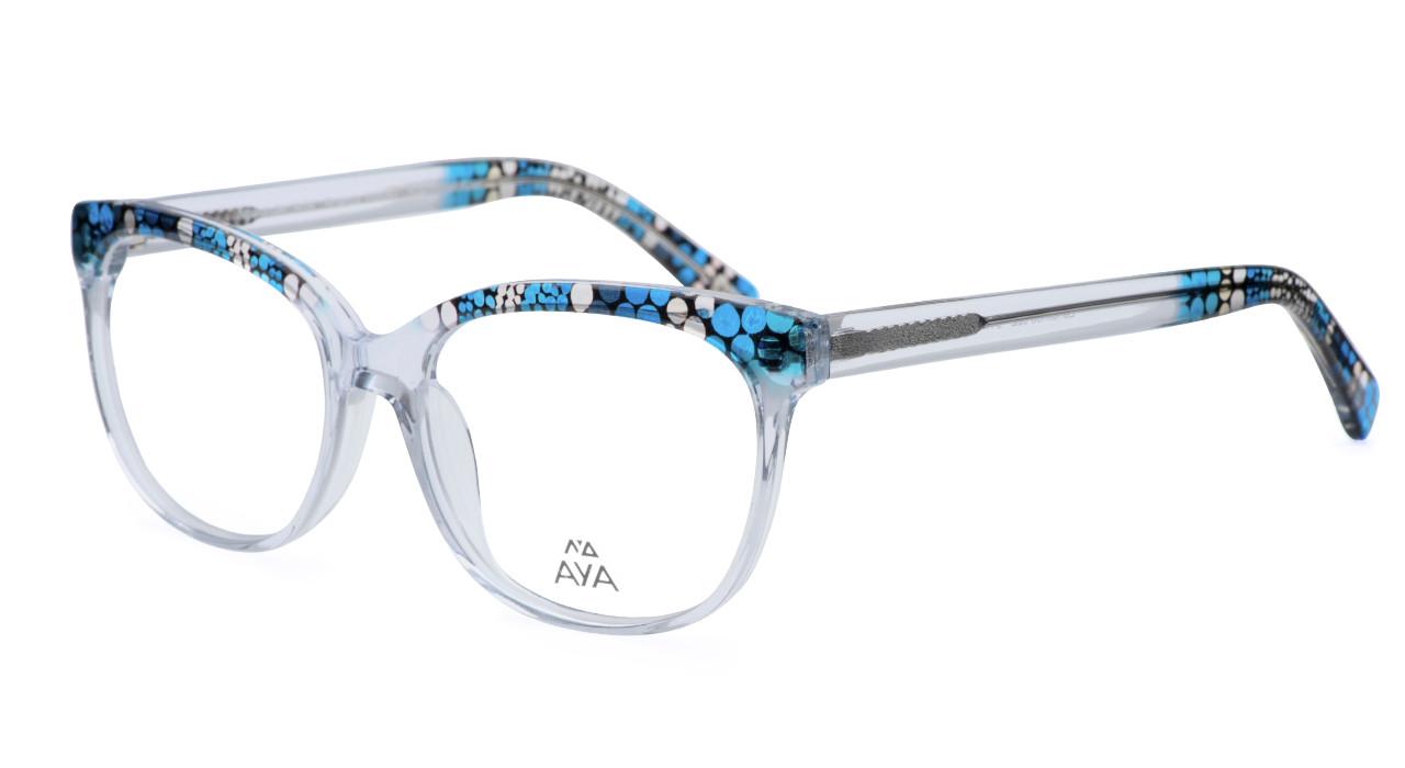 0308efdbc7 Landlines - Optical Frame - Crystal with Blue - Claudia Alan US