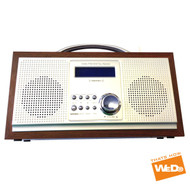 Wooden Portable DAB/FM Digital Clock Display Radio