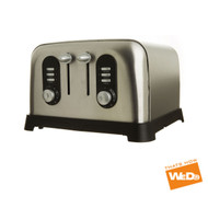 Kitchen Collection Toaster Stainless Steel Defrost Reheat 4 Slice