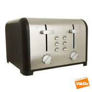 Kitchen Collection Matt Black 4 Slice Toaster