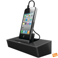 iLUV MODERN BOX SMARTPHONE PORTABLE SPEAKER STAND DOCK CRADLE ISP125BLK