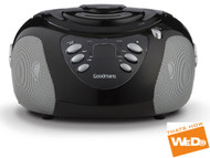 Goodmans GPS02BLK CD Boombox with top loading CD player and FM Radio