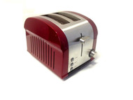 Kitchen Collection Stainless Steel Defrost Reheat 2 Slice Toaster Red