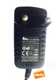 GENUINE ORIGINAL KTEC KSAFC0500200W1EU POWER SUPPLY ADAPTER 5V 2A EU