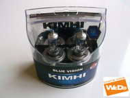 KIMHI Blue Vision H4 12V 60/55W Halogen Headlights Bulbs Colour 8000K Twin Pack