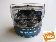 KIMHI Vision Plus H4 12V 60/55W Halogen Headlight Bulb Colour 8000K Twin Pack