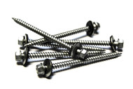 (10) 9x2-1/2 Hex Head Roofing Screws with Neoprene Washer (Weather Coat)