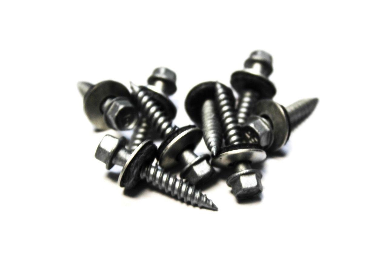 10x1 Hex Head Sheet Metal Screws Neoprene Washer Roofing screws 1000