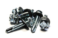 (500) 14x1-1/4 Unslotted Self Drilling Hex Head Sheet Metal Screws Neo Washer