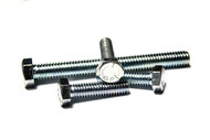 "(25) 3/8""-16x3-1/2"" Fully Threaded Hex Tap Bolts (GRADE 5) - Zinc"