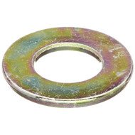"(100) 5/16"" SAE Flat Washers - Yellow Zinc (THRU-HARDENED)"