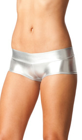 Metallic boy shorts with band.