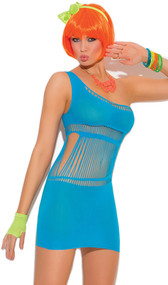One shoulder mini dress with cut out detail.