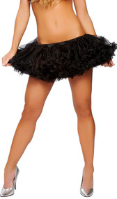 Ruffled layered petticoat. Soft mesh with elastic waistband.