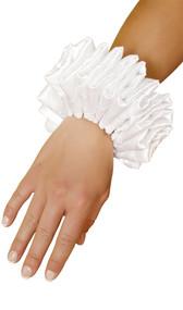 Ruffled wrist cuffs. Sold as a pair.