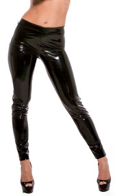 Show off your gorgeous curves in these slinky black pants. No pockets or zippers.