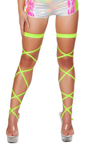 Solid leg strap with attached garter.