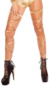 c9f71ece222 Velvet Leg Strap Attached Garter
