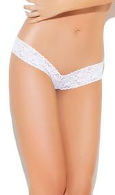 V shaped lace thong.