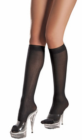 Opaque knee highs.