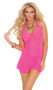 Lace halter mini dress. Matching g-string is included.