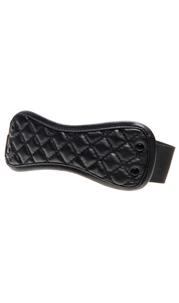 Quilted eye mask with studded detail and elastic back.