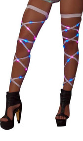Light up leg straps with attached garter.
