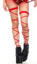 Double leg straps with attached garter.