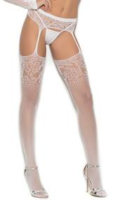 Crochet suspender pantyhose.