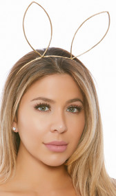 Large bunny ears metal headband.