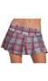 Plaid pleated school girl skirt. Slip on style with a slightly stretchy waist.