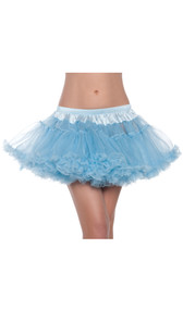 Two layer mini petticoat, soft mesh with elastic waist. 15 denier.