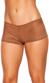 Faux suede boy shorts.