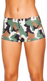 Camouflage boy shorts.