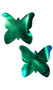 Self adhesive butterfly shaped pasties with iridescent multi color finish. Latex free and waterproof. Two per package. Made with hypoallergenic, medical grade adhesive. No gluten, soy, dye, parabens or latex.