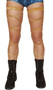 """Suede leg wraps with attached garter. 2 per package. 100"""" long. Wrap parts measure 3/8"""" wide, garters measure 1"""" wide."""