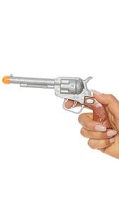 Western style plastic prop gun costume accessory.