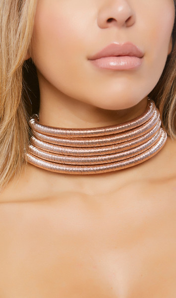 Stacked coil choker with magnet back side closure.