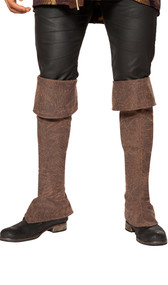 """Tall pirate boot covers with zipper back. Measure about 38"""" tall with top not folded down. Can be folded down to fit your height. Pair."""