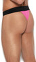 Men's thong with contrast elastic waistband.