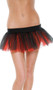 Reversible petticoat has an elastic waist and features four mesh layers, two of each color.