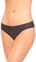 Crotchless lace panty with strappy back, satin bow, scalloped trim and rhinestone detail.