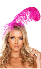 Large feather headband. Headband is covered.