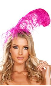 Large feather headband. Headband is covered.