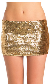 Low rise sequin skirt, pull on style.