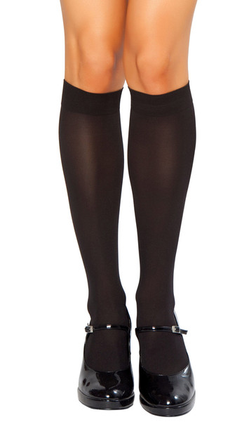 Knee high stockings.